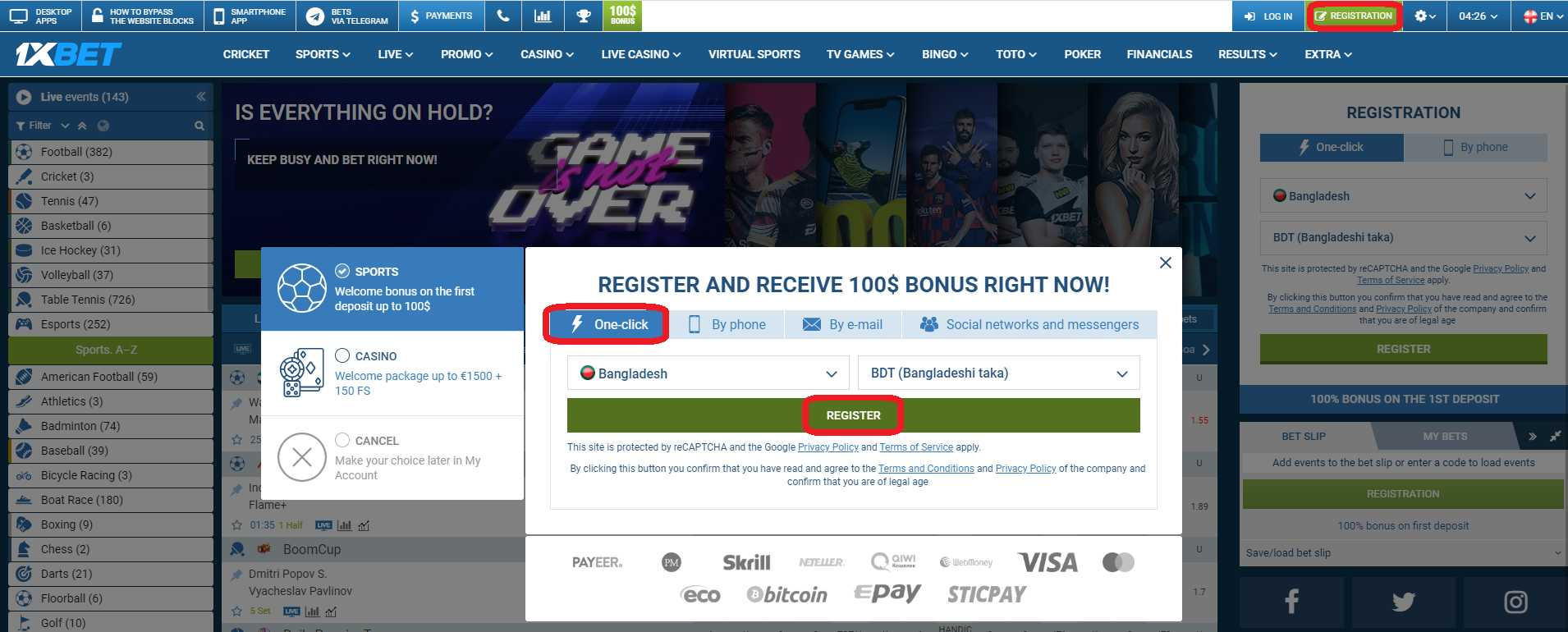 Try 1xBet app download to earn faster